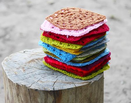 かぎ針編みの広場 写真素材