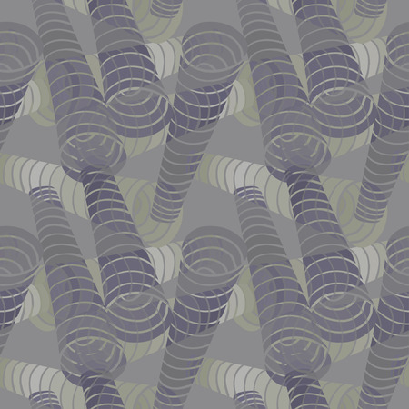 copper pipe: Seamless abstract background with spiral pipes. Illustration