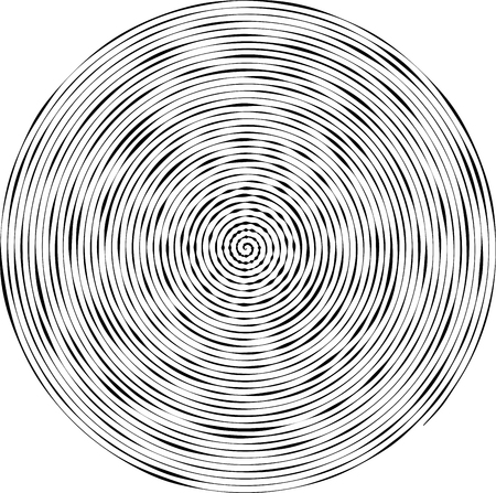 tunnel vision: Abstract striped vector background in circle. Concentric circles, ripple effect.