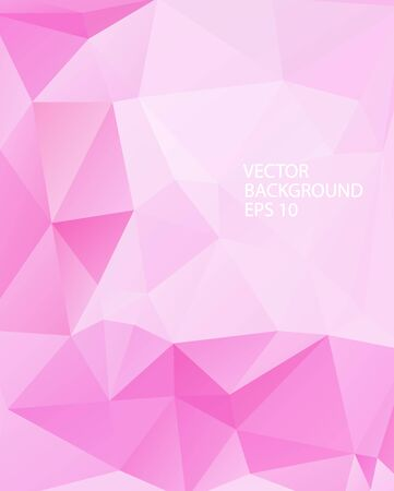 Abstract decorative vector background with triangular polygons