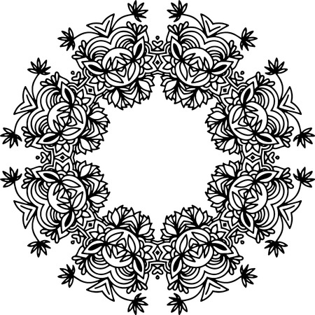 aristocratic: Black and white illustration. Vintage frame with curly decorative motifs.