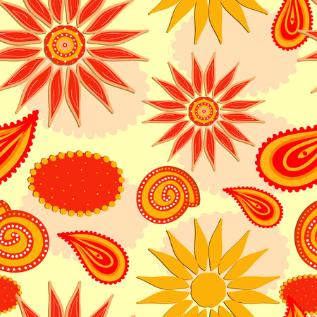 Abstract ornaments, seamless decorative pattern.