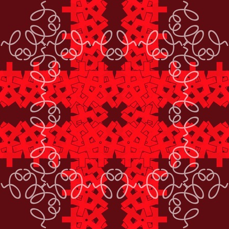 ukraine folk: Abstract ornaments, seamless decorative pattern.