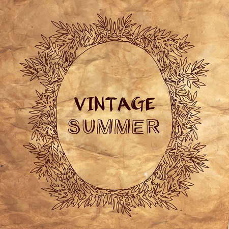 vintage postcard: Vintage summer postcard. Illustration