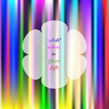 Decorative colorful background with abstract elements and quote. Stock Photo