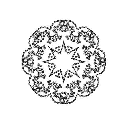Abstract beautiful mandala, ornate element for design.