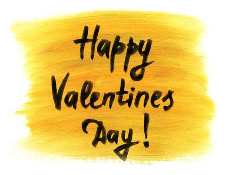 Gift card. Valentines Day. Creative watercolor background
