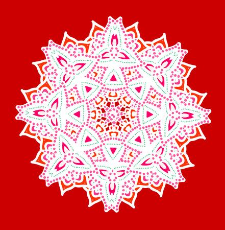 Ornamental card with mandala. Vintage decorative elements.