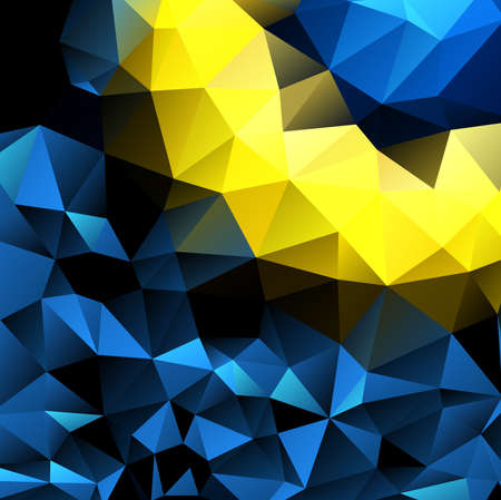 triangle shaped: Abstract decorative background with triangular polygons