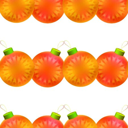 New Year seamless background with colorful decorative balls.