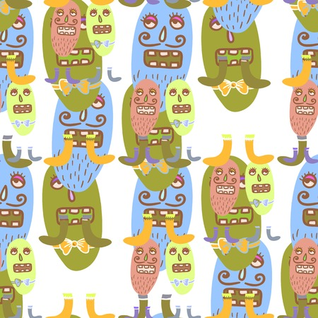 infectious disease: Seamless repeatable pattern with cute microbes.