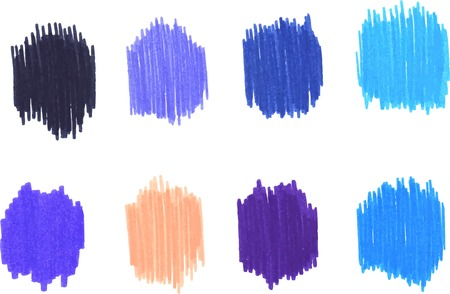 vibrant paintbrush: Hand painted colorful texture, element for design Illustration