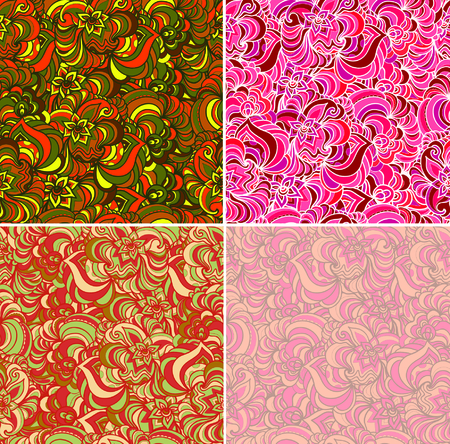 Seamless backgrounds in abstract style, design element.