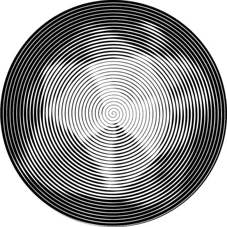 trickery: Abstract striped background in circle. Concentric circles, ripple effect.