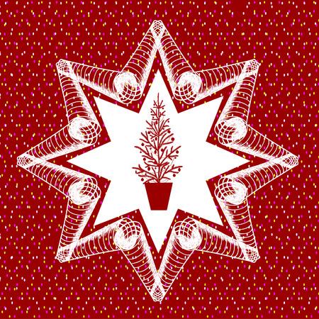 Blue stylized snowflake, illustration. Element for design