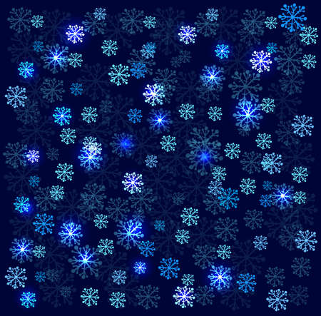 seamlessly: Seamless background. Abstract pattern with blue snowflakes.