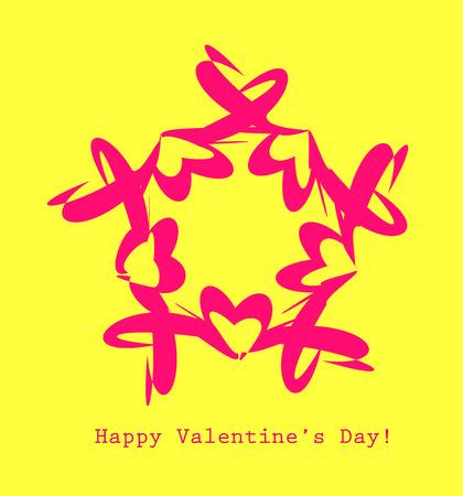 Creative Valentine card. Decorative colorful design template.