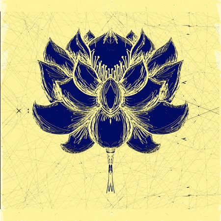 horticultural: Stylized lotus flower. Element for design
