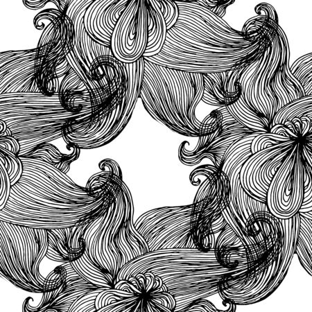 ripply: Seamless wavy pattern. Repeating texture. Stylish wavy background Illustration