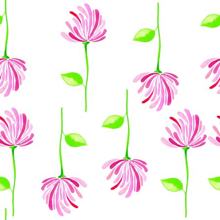 wrapper: Seamless pattern watercolor flowers, paper, textile, fabric wrapper wallpapervector Illustration