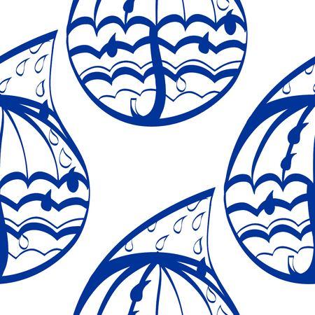rainwater: Hand drawn seamless pattern with stylized raindrops