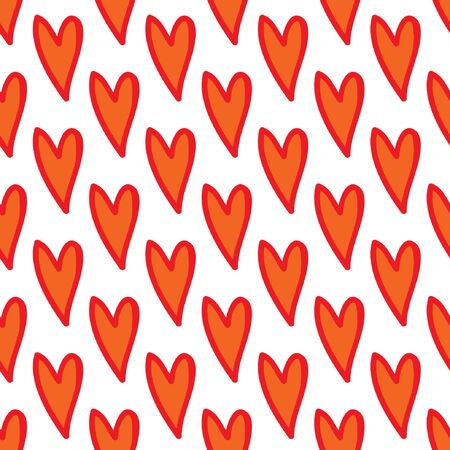 Abstract colorful seamless heart pattern. Valentines day background. Illustration