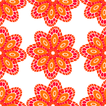 swatch: Seamless background with stylized floral and herbal motifs.