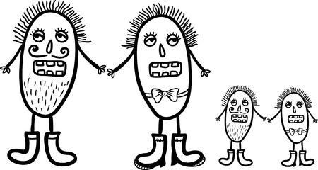 ameba: patrón repetible inconsútil del vector con los microbios lindo.