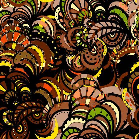 Abstract multicolored texture. Element for design. Ornamental backdrop. Ornate decor for wallpaper. Illustration