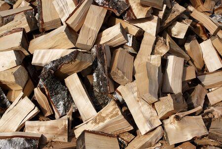 スタックのみじん切り薪 - 薪背景 写真素材