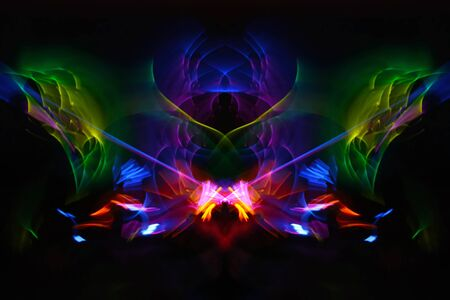 luminosity: Abstract colorful bright swirl background with lighting effects.