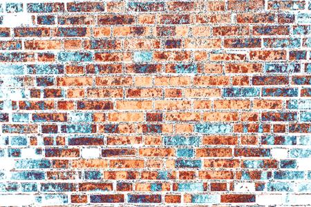 Background of old vintage dirty bricks with peeling plaster