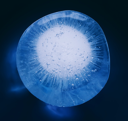 crystallization: Icy pattern on frozen window. Frozen water texture.
