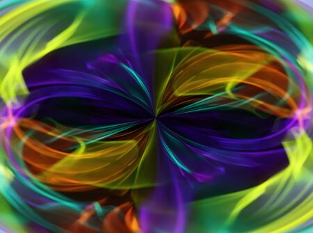 Abstract colorful bright swirl background with lighting effects.