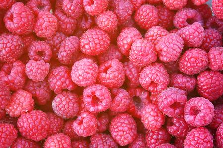 luscious: Ripe sweet tasty fresh raspberry close up Stock Photo
