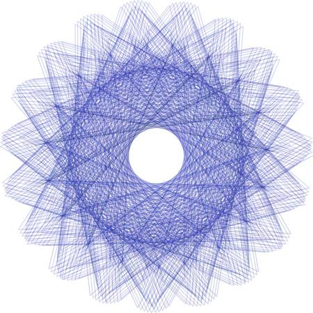 Abstract decorative floral spirograph circular element. Vector shape.