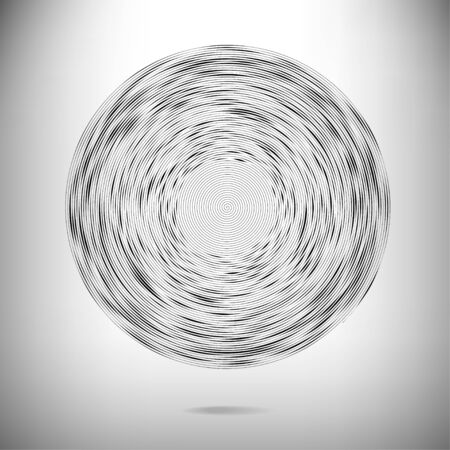 Abstract striped black and white vector background