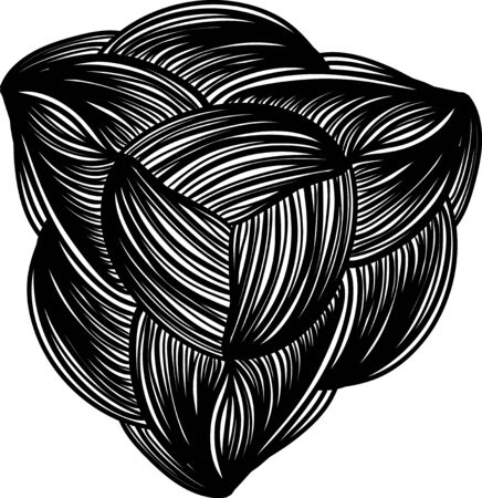 Abstract doodle design element on white background Illustration