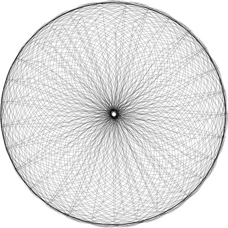 spirograph: Abstract decorative spirograph element Illustration