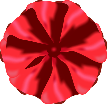 Stylized red bow on white background. Element for design.