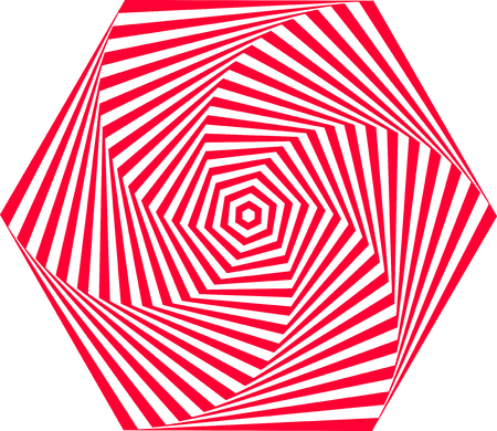 Red and white optical illusion