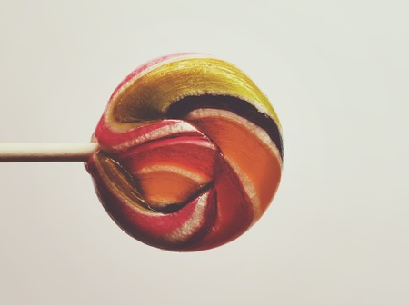 gum paste: Sweet colorful lollipop