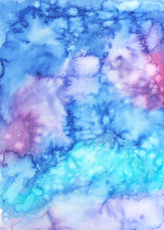 Abstract hand painted texture. Creative colorful watercolor background for design.