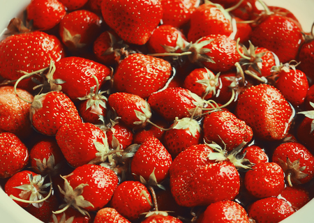 Fresh strawberry background. Red ripe berries.