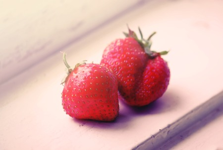 Fresh ripe red strawberry.