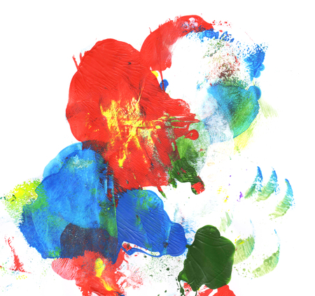 Hand painted colorful texture, element for design Stock Photo