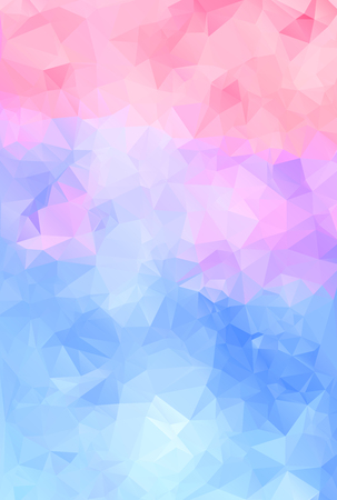 Abstract geometric colorful background of triangular polygons. Vector illustration. Retro mosaic triangle bright trendy pattern for web, business template, brochure, card, poster, banner design. Illustration