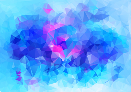 Abstract geometric background of triangular polygons. Vector illustration. Retro mosaic triangle bright trendy pattern for web, business template, brochure, card, poster, banner design.