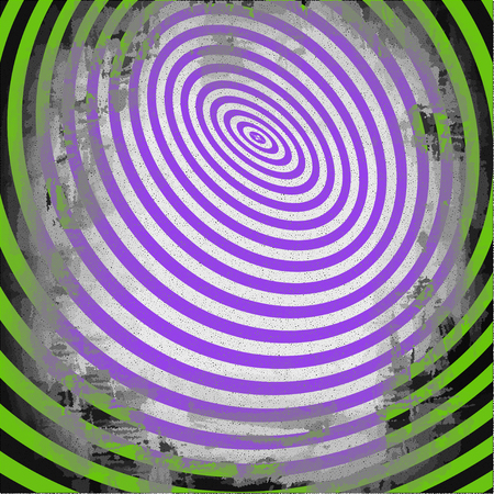 Abstract twisted black and white shape. Optical illusion of distorted surface. Twisted colorful stripes. Vector illustration.