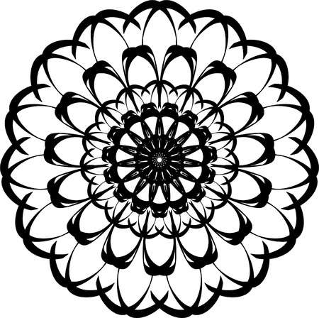 Mandala pattern. Round abstract shape for coloring. Decorative element